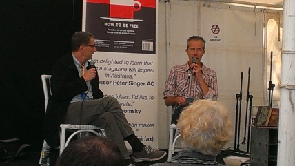 David Finkel and Geoff Dyer in discussion.