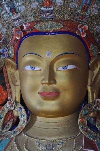 Buddha Maitreya Statue at Thiksey Gompa
