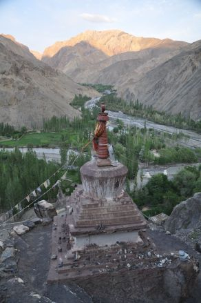 View from Wanla gompa up the valley.